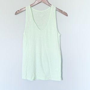 JCrew Vintage Heathered Cotton Mint Tank